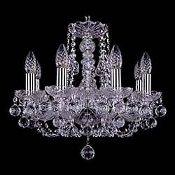 Подвесная люстра Bohemia Ivele CrystalБолее 6 ламп<br>Артикул - BI_1406_8_141_Ni_Balls,Бренд - Bohemia Ivele Crystal (Чехия),Коллекция - 1406,Гарантия, месяцы - 24,Высота, мм - 410,Диаметр, мм - 460,Размер упаковки, мм - 450x450x200,Тип лампы - компактная люминесцентная [КЛЛ] ИЛИнакаливания ИЛИсветодиодная [LED],Общее кол-во ламп - 8,Напряжение питания лампы, В - 220,Максимальная мощность лампы, Вт - 40,Лампы в комплекте - отсутствуют,Цвет плафонов и подвесок - неокрашенный,Тип поверхности плафонов - прозрачный,Материал плафонов и подвесок - хрусталь,Цвет арматуры - неокрашенный, никель,Тип поверхности арматуры - глянцевый, прозрачный,Материал арматуры - металл, стекло,Возможность подлючения диммера - можно, если установить лампу накаливания,Форма и тип колбы - свеча,Тип цоколя лампы - E14,Класс электробезопасности - I,Общая мощность, Вт - 320,Степень пылевлагозащиты, IP - 20,Диапазон рабочих температур - комнатная температура,Дополнительные параметры - способ крепления светильника к потолку – на крюке<br>