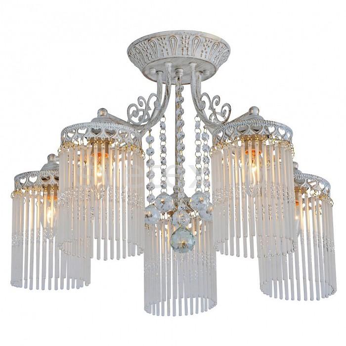 Потолочная люстра Arte Lamp5 или 6 ламп<br>Артикул - AR_A1678PL-5WG,Бренд - Arte Lamp (Италия),Коллекция - Torrente,Гарантия, месяцы - 24,Время изготовления, дней - 1,Высота, мм - 360,Диаметр, мм - 550,Тип лампы - компактная люминесцентная [КЛЛ] ИЛИнакаливания ИЛИсветодиодная [LED],Общее кол-во ламп - 5,Напряжение питания лампы, В - 220,Максимальная мощность лампы, Вт - 60,Лампы в комплекте - отсутствуют,Цвет плафонов и подвесок - неокрашенный,Тип поверхности плафонов - прозрачный,Материал плафонов и подвесок - стекло,Цвет арматуры - белый, золото,Тип поверхности арматуры - матовый,Материал арматуры - металл,Возможность подлючения диммера - можно, если установить лампу накаливания,Тип цоколя лампы - E14,Класс электробезопасности - I,Общая мощность, Вт - 300,Степень пылевлагозащиты, IP - 20,Диапазон рабочих температур - комнатная температура,Дополнительные параметры - способ крепления светильника к потолку – на монтажной пластине<br>