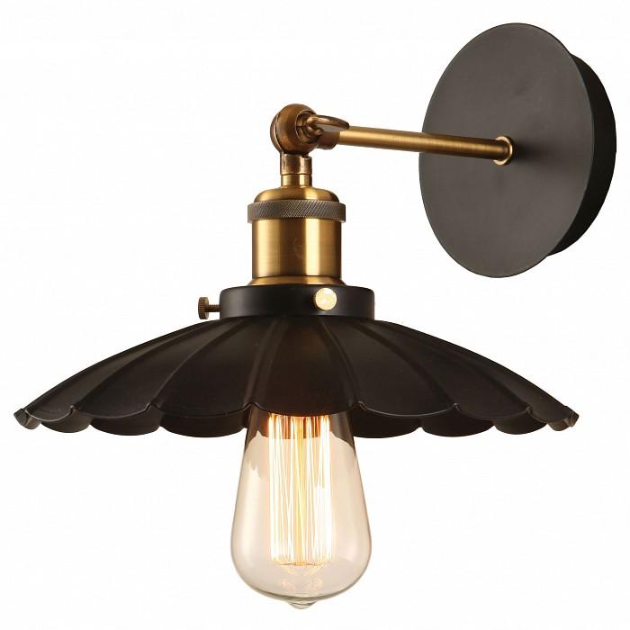 Бра LussoleБра<br>Артикул - LSP-9102,Бренд - Lussole (Италия),Коллекция - Loft,Гарантия, месяцы - 24,Время изготовления, дней - 1,Ширина, мм - 260,Высота, мм - 220,Выступ, мм - 300,Тип лампы - накаливания,Общее кол-во ламп - 1,Напряжение питания лампы, В - 220,Максимальная мощность лампы, Вт - 60,Цвет лампы - белый теплый,Лампы в комплекте - накаливания E27 GF-E-764,Цвет плафонов и подвесок - черный,Тип поверхности плафонов - матовый, рельефный,Материал плафонов и подвесок - металл,Цвет арматуры - бронза, черный,Тип поверхности арматуры - глянцевый, матовый,Материал арматуры - металл,Количество плафонов - 1,Возможность подлючения диммера - можно,Форма и тип колбы - конусная,Тип цоколя лампы - E27,Цветовая температура, K - 2800 K,Класс электробезопасности - I,Степень пылевлагозащиты, IP - 20,Диапазон рабочих температур - комнатная температура,Дополнительные параметры - светильник предназначен для использования со скрытой проводкой, стиль Кантри<br>