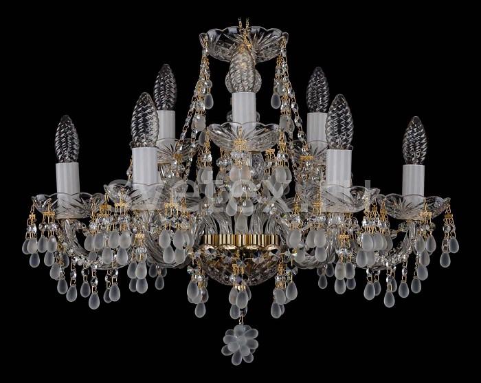 Фото Подвесная люстра Bohemia Ivele Crystal 1410 1410/6_3/195/G/0300