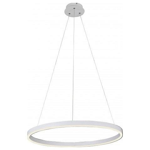 Подвесной светильник Kink LightСветодиодные<br>Артикул - KL_08213.01,Бренд - Kink Light (Китай),Коллекция - Тор,Гарантия, месяцы - 24,Время изготовления, дней - 1,Высота, мм - 1100,Диаметр, мм - 600,Тип лампы - светодиодная [LED],Общее кол-во ламп - 1,Напряжение питания лампы, В - 220,Максимальная мощность лампы, Вт - 36,Цвет лампы - белый,Лампы в комплекте - светодиодная [LED],Цвет плафонов и подвесок - белый,Тип поверхности плафонов - матовый,Материал плафонов и подвесок - акрил,Цвет арматуры - белый,Тип поверхности арматуры - матовый,Материал арматуры - дюралюминий,Количество плафонов - 1,Возможность подлючения диммера - нельзя,Цветовая температура, K - 4000 K,Световой поток, лм - 5940,Экономичнее лампы накаливания - в 10 раз,Светоотдача, лм/Вт - 165,Класс электробезопасности - I,Степень пылевлагозащиты, IP - 20,Диапазон рабочих температур - комнатная температура,Дополнительные параметры - регулируется по высоте,  способ крепления светильника к потолку – на монтажной пластине<br>