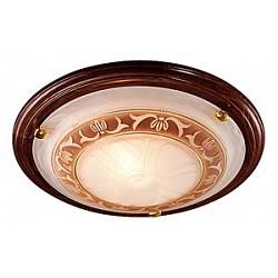 Накладной светильник SonexКруглые<br>Артикул - SN_117_K,Бренд - Sonex (Россия),Коллекция - Filo,Гарантия, месяцы - 24,Высота, мм - 100,Диаметр, мм - 360,Тип лампы - компактная люминесцентная [КЛЛ] ИЛИнакаливания ИЛИсветодиодная [LED],Общее кол-во ламп - 2,Напряжение питания лампы, В - 220,Максимальная мощность лампы, Вт - 60,Лампы в комплекте - отсутствуют,Цвет плафонов и подвесок - белый алебастр с коричневым рисунком,Тип поверхности плафонов - матовый,Материал плафонов и подвесок - стекло,Цвет арматуры - дуб, золото,Тип поверхности арматуры - глянцевый, матовый,Материал арматуры - дерево, металл,Возможность подлючения диммера - можно, если установить лампу накаливания,Тип цоколя лампы - E27,Класс электробезопасности - I,Общая мощность, Вт - 120,Степень пылевлагозащиты, IP - 20,Диапазон рабочих температур - комнатная температура<br>