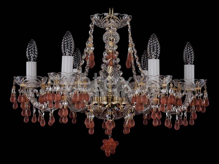 Фото Подвесная люстра Bohemia Ivele Crystal 1410 1410/6/195/G/7010