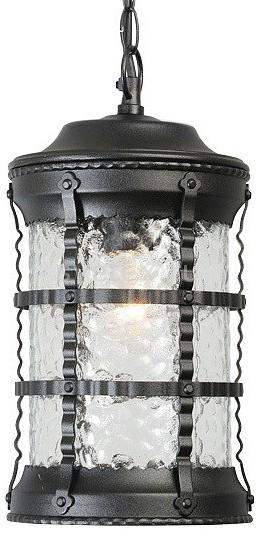 Подвесной светильник MW-LightСветильники<br>Артикул - MW_810010401,Бренд - MW-Light (Германия),Коллекция - Донато,Гарантия, месяцы - 24,Время изготовления, дней - 1,Высота, мм - 950,Диаметр, мм - 180,Тип лампы - компактная люминесцентная [КЛЛ] ИЛИнакаливания ИЛИсветодиодная [LED],Общее кол-во ламп - 1,Напряжение питания лампы, В - 220,Максимальная мощность лампы, Вт - 100,Лампы в комплекте - отсутствуют,Цвет плафонов и подвесок - неокрашенный,Тип поверхности плафонов - прозрачный, рельефный,Материал плафонов и подвесок - стекло,Цвет арматуры - черный,Тип поверхности арматуры - матовый, рельефный,Материал арматуры - металл,Количество плафонов - 1,Тип цоколя лампы - E27,Класс электробезопасности - I,Степень пылевлагозащиты, IP - 44,Диапазон рабочих температур - от -40^C до +40^C<br>