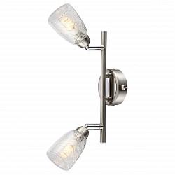 Бра GloboБолее 1 лампы<br>Артикул - GB_56023-2,Бренд - Globo (Австрия),Коллекция - Crash,Гарантия, месяцы - 24,Высота, мм - 85,Размер упаковки, мм - 125x110x260,Тип лампы - светодиодная [LED],Общее кол-во ламп - 2,Напряжение питания лампы, В - 220,Максимальная мощность лампы, Вт - 3,Лампы в комплекте - светодиодные [LED] G9,Цвет плафонов и подвесок - неокрашенный,Тип поверхности плафонов - прозрачный,Материал плафонов и подвесок - стекло,Цвет арматуры - никель, хром,Тип поверхности арматуры - глянцевый, сатин,Материал арматуры - металл,Форма и тип колбы - пальчиковая,Тип цоколя лампы - G9,Класс электробезопасности - I,Общая мощность, Вт - 6,Степень пылевлагозащиты, IP - 20,Диапазон рабочих температур - комнатная температура,Дополнительные параметры - способ крепления светильника к стене – на монтажной пластине, светильник предназначен для использования со скрытой проводкой, поворотный светильник<br>