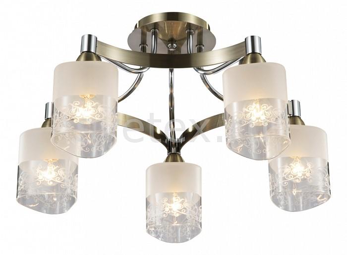 Потолочная люстра MaytoniЛюстры<br>Артикул - MY_TOC003-05-R,Бренд - Maytoni (Германия),Коллекция - Eurosize 3,Гарантия, месяцы - 24,Высота, мм - 220,Диаметр, мм - 544,Тип лампы - компактная люминесцентная [КЛЛ] ИЛИнакаливания ИЛИсветодиодная [LED],Общее кол-во ламп - 5,Напряжение питания лампы, В - 220,Максимальная мощность лампы, Вт - 60,Лампы в комплекте - отсутствуют,Цвет плафонов и подвесок - белый с неокрашенной каймой,Тип поверхности плафонов - матовый,Материал плафонов и подвесок - стекло,Цвет арматуры - бронза, хром,Тип поверхности арматуры - глянцевый,Материал арматуры - металл,Количество плафонов - 5,Возможность подлючения диммера - можно, если установить лампу накаливания,Тип цоколя лампы - E14,Класс электробезопасности - I,Общая мощность, Вт - 300,Степень пылевлагозащиты, IP - 20,Диапазон рабочих температур - комнатная температура<br>
