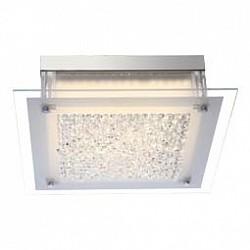 Накладной светильник GloboКвадратные<br>Артикул - GB_49311,Бренд - Globo (Австрия),Коллекция - Leah,Гарантия, месяцы - 24,Высота, мм - 105,Тип лампы - светодиодная [LED],Общее кол-во ламп - 1,Напряжение питания лампы, В - 51.2,Максимальная мощность лампы, Вт - 17.3,Лампы в комплекте - светодиодная [LED],Цвет плафонов и подвесок - неокрашенный,Тип поверхности плафонов - матовый, прозрачный,Материал плафонов и подвесок - стекло, хрусталь K5,Цвет арматуры - хром,Тип поверхности арматуры - глянцевый,Материал арматуры - металл,Возможность подлючения диммера - нельзя,Класс электробезопасности - I,Степень пылевлагозащиты, IP - 20,Диапазон рабочих температур - комнатная температура<br>