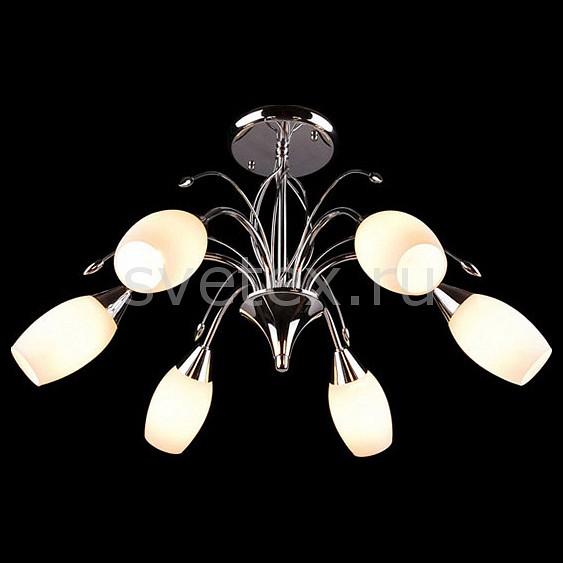 Люстра на штанге EurosvetЛюстры<br>Артикул - EV_5151,Бренд - Eurosvet (Китай),Коллекция - 22080,Гарантия, месяцы - 24,Высота, мм - 370,Диаметр, мм - 600,Тип лампы - компактная люминесцентная [КЛЛ] ИЛИнакаливания ИЛИсветодиодная [LED],Общее кол-во ламп - 6,Напряжение питания лампы, В - 220,Максимальная мощность лампы, Вт - 60,Лампы в комплекте - отсутствуют,Цвет плафонов и подвесок - белый,Тип поверхности плафонов - матовый,Материал плафонов и подвесок - стекло,Цвет арматуры - хром,Тип поверхности арматуры - глянцевый,Материал арматуры - металл,Количество плафонов - 6,Возможность подлючения диммера - можно, если установить лампу накаливания,Тип цоколя лампы - E14,Класс электробезопасности - I,Общая мощность, Вт - 360,Степень пылевлагозащиты, IP - 20,Диапазон рабочих температур - комнатная температура,Дополнительные параметры - способ крепления светильника к потолку - на монтажной пластине<br>