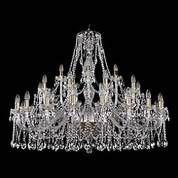 Подвесная люстра Bohemia Ivele CrystalБолее 6 ламп<br>Артикул - BI_1413_20_10_5_460_100_G,Бренд - Bohemia Ivele Crystal (Чехия),Коллекция - 1413,Гарантия, месяцы - 24,Высота, мм - 1000,Диаметр, мм - 1340,Размер упаковки, мм - 710x710x380,Тип лампы - компактная люминесцентная [КЛЛ] ИЛИнакаливания ИЛИсветодиодная [LED],Общее кол-во ламп - 35,Напряжение питания лампы, В - 220,Максимальная мощность лампы, Вт - 40,Лампы в комплекте - отсутствуют,Цвет плафонов и подвесок - неокрашенный,Тип поверхности плафонов - прозрачный,Материал плафонов и подвесок - хрусталь,Цвет арматуры - золото, неокрашенный,Тип поверхности арматуры - глянцевый, прозрачный, рельефный,Материал арматуры - металл, стекло,Возможность подлючения диммера - можно, если установить лампу накаливания,Форма и тип колбы - свеча ИЛИ свеча на ветру,Тип цоколя лампы - E14,Класс электробезопасности - I,Общая мощность, Вт - 1400,Степень пылевлагозащиты, IP - 20,Диапазон рабочих температур - комнатная температура,Дополнительные параметры - способ крепления светильника к потолку - на крюке, указана высота светильника без подвеса<br>