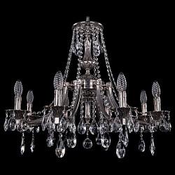 Подвесная люстра Bohemia Ivele CrystalБолее 6 ламп<br>Артикул - BI_1771_8_220_A_NB,Бренд - Bohemia Ivele Crystal (Чехия),Коллекция - 1771,Гарантия, месяцы - 24,Высота, мм - 620,Диаметр, мм - 690,Размер упаковки, мм - 640x640x320,Тип лампы - компактная люминесцентная [КЛЛ] ИЛИнакаливания ИЛИсветодиодная [LED],Общее кол-во ламп - 8,Напряжение питания лампы, В - 220,Максимальная мощность лампы, Вт - 40,Лампы в комплекте - отсутствуют,Цвет плафонов и подвесок - неокрашенный,Тип поверхности плафонов - прозрачный,Материал плафонов и подвесок - хрусталь,Цвет арматуры - никель черненый,Тип поверхности арматуры - глянцевый, рельефный,Материал арматуры - латунь,Возможность подлючения диммера - можно, если установить лампу накаливания,Форма и тип колбы - свеча ИЛИ свеча на ветру,Тип цоколя лампы - E14,Класс электробезопасности - I,Общая мощность, Вт - 320,Степень пылевлагозащиты, IP - 20,Диапазон рабочих температур - комнатная температура,Дополнительные параметры - способ крепления светильника к потолку - на крюке, указана высота светильника без подвеса<br>