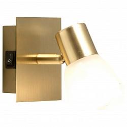 Бра GloboС 1 лампой<br>Артикул - GB_54540-1,Бренд - Globo (Австрия),Коллекция - Raider,Гарантия, месяцы - 24,Высота, мм - 100,Размер упаковки, мм - 160x120x120,Тип лампы - компактная люминесцентная [КЛЛ] ИЛИнакаливания ИЛИсветодиодная [LED],Общее кол-во ламп - 1,Напряжение питания лампы, В - 220,Максимальная мощность лампы, Вт - 40,Лампы в комплекте - отсутствуют,Цвет плафонов и подвесок - белый алебастр,Тип поверхности плафонов - матовый,Материал плафонов и подвесок - стекло,Цвет арматуры - латунь,Тип поверхности арматуры - матовый,Материал арматуры - металл,Возможность подлючения диммера - можно, если установить лампу накаливания,Тип цоколя лампы - E14,Класс электробезопасности - I,Степень пылевлагозащиты, IP - 20,Диапазон рабочих температур - комнатная температура,Дополнительные параметры - поворотный светильник, предназначен для использования со скрытой проводкой<br>