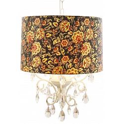 Подвесной светильник Arte LampС 1 плафоном<br>Артикул - AR_A7960SP-3BC,Бренд - Arte Lamp (Италия),Коллекция - Jennifer,Гарантия, месяцы - 24,Высота, мм - 1000,Диаметр, мм - 400,Тип лампы - компактная люминесцентная [КЛЛ] ИЛИнакаливания ИЛИсветодиодная [LED],Общее кол-во ламп - 3,Напряжение питания лампы, В - 220,Максимальная мощность лампы, Вт - 40,Лампы в комплекте - отсутствуют,Цвет плафонов и подвесок - черный с цветным рисунком, неокрашенный,Тип поверхности плафонов - матовый, прозрачный,Материал плафонов и подвесок - текстиль, хрусталь,Цвет арматуры - белый,Тип поверхности арматуры - матовый,Материал арматуры - металл,Возможность подлючения диммера - можно, если установить лампу накаливания,Тип цоколя лампы - E14,Класс электробезопасности - I,Общая мощность, Вт - 120,Степень пылевлагозащиты, IP - 20,Диапазон рабочих температур - комнатная температура<br>