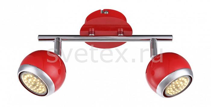 Спот GloboСпоты<br>Артикул - GB_57885-2O,Бренд - Globo (Австрия),Коллекция - Oman,Гарантия, месяцы - 24,Длина, мм - 250,Выступ, мм - 150,Размер упаковки, мм - 255x140x110,Тип лампы - галогеновая ИЛИсветодиодная [LED],Общее кол-во ламп - 2,Напряжение питания лампы, В - 220,Максимальная мощность лампы, Вт - 50,Лампы в комплекте - отсутствуют,Цвет плафонов и подвесок - красный с хромированной каймой,Тип поверхности плафонов - глянцевый, матовый,Материал плафонов и подвесок - металл,Цвет арматуры - красный, хром,Тип поверхности арматуры - глянцевый, матовый,Материал арматуры - металл,Количество плафонов - 2,Возможность подлючения диммера - нельзя,Форма и тип колбы - полусферическая с рефлектором,Тип цоколя лампы - GU10,Класс электробезопасности - I,Степень пылевлагозащиты, IP - 20,Диапазон рабочих температур - комнатная температура,Дополнительные параметры - способ крепления светильника к потолку и стене - на монтажной пластине, поворотный светильник<br>