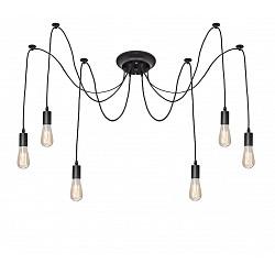 Подвесной светильник Loft itСветодиодные<br>Артикул - LF_LOFT1162_6,Бренд - Loft it (Испания),Коллекция - 1162,Гарантия, месяцы - 24,Высота, мм - 2000,Тип лампы - компактная люминесцентная [КЛЛ] ИЛИнакаливания ИЛИсветодиодная [LED],Общее кол-во ламп - 6,Напряжение питания лампы, В - 220,Максимальная мощность лампы, Вт - 40,Лампы в комплекте - отсутствуют,Цвет арматуры - черный,Тип поверхности арматуры - матовый,Материал арматуры - металл,Возможность подлючения диммера - можно, если установить лампу накаливания,Тип цоколя лампы - E27,Класс электробезопасности - I,Общая мощность, Вт - 240,Степень пылевлагозащиты, IP - 20,Диапазон рабочих температур - комнатная температура,Дополнительные параметры - способ крепления светильника к потолку – на монтажной пластине<br>
