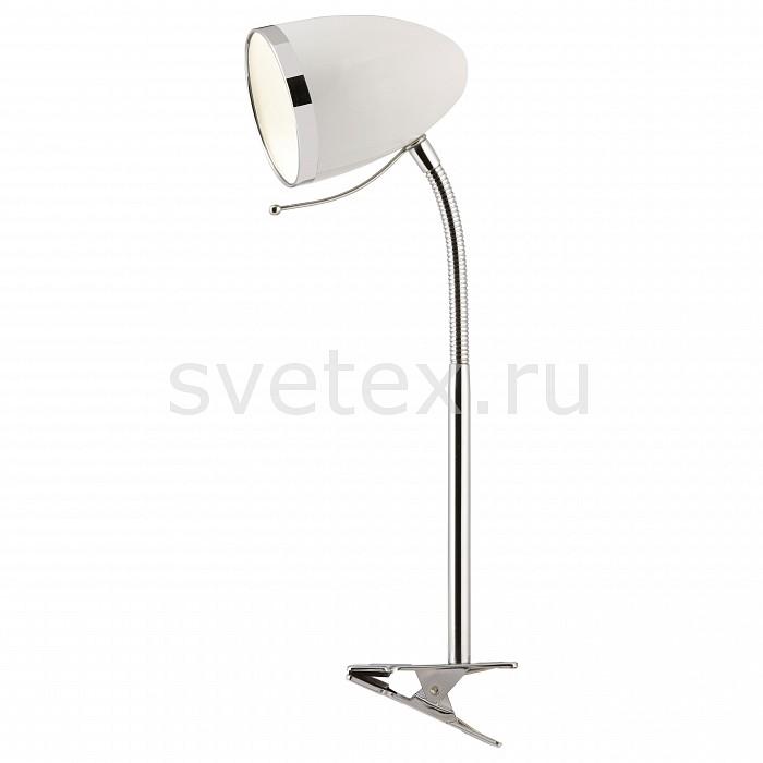 Настольная лампа Arte LampНа прищепке<br>Артикул - AR_A6155LT-1WH,Бренд - Arte Lamp (Италия),Коллекция - Cosy,Время изготовления, дней - 1,Высота, мм - 440,Диаметр, мм - 100,Тип лампы - компактная люминесцентная [КЛЛ] ИЛИнакаливания ИЛИсветодиодная [LED],Общее кол-во ламп - 1,Напряжение питания лампы, В - 220,Максимальная мощность лампы, Вт - 40,Лампы в комплекте - отсутствуют,Цвет плафонов и подвесок - белый с хромированной каймой,Тип поверхности плафонов - матовый,Материал плафонов и подвесок - металл,Цвет арматуры - хром,Тип поверхности арматуры - глянцевый,Материал арматуры - металл,Количество плафонов - 1,Наличие выключателя, диммера или пульта ДУ - выключатель на проводе,Компоненты, входящие в комплект - провод электропитания с вилкой без заземления,Тип цоколя лампы - E27,Класс электробезопасности - II,Степень пылевлагозащиты, IP - 20,Диапазон рабочих температур - комнатная температура,Дополнительные параметры - провод электропитания с вилкой без заземления, светильник на прищепке<br>