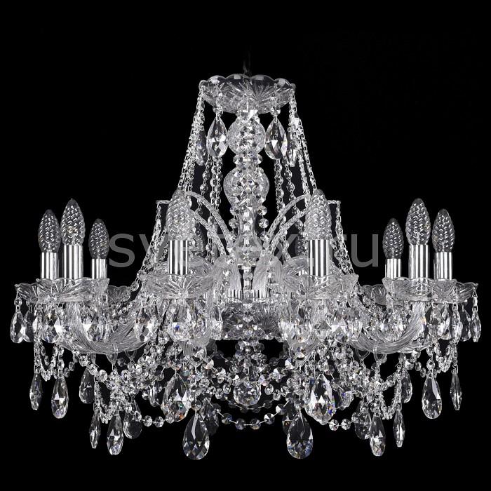 Подвесная люстра Bohemia Ivele CrystalБолее 6 ламп<br>Артикул - BI_1411_10_240_Ni,Бренд - Bohemia Ivele Crystal (Чехия),Коллекция - 1411,Гарантия, месяцы - 24,Высота, мм - 530,Диаметр, мм - 670,Размер упаковки, мм - 510x510x200,Тип лампы - компактная люминесцентная [КЛЛ] ИЛИнакаливания ИЛИсветодиодная [LED],Количество ламп - 7,Общее кол-во ламп - 10,Напряжение питания лампы, В - 220,Максимальная мощность лампы, Вт - 40,Лампы в комплекте - отсутствуют,Цвет плафонов и подвесок - неокрашенный,Тип поверхности плафонов - прозрачный,Материал плафонов и подвесок - хрусталь,Цвет арматуры - никель, неокрашенный,Тип поверхности арматуры - матовый, прозрачный,Материал арматуры - металл, стекло,Возможность подлючения диммера - можно, если установить лампу накаливания,Форма и тип колбы - свеча ИЛИ свеча на ветру,Тип цоколя лампы - E14,Класс электробезопасности - I,Общая мощность, Вт - 340,Степень пылевлагозащиты, IP - 20,Диапазон рабочих температур - комнатная температура,Дополнительные параметры - способ крепления светильника к потолку - на крюке, указана высота светильники без подвеса<br>