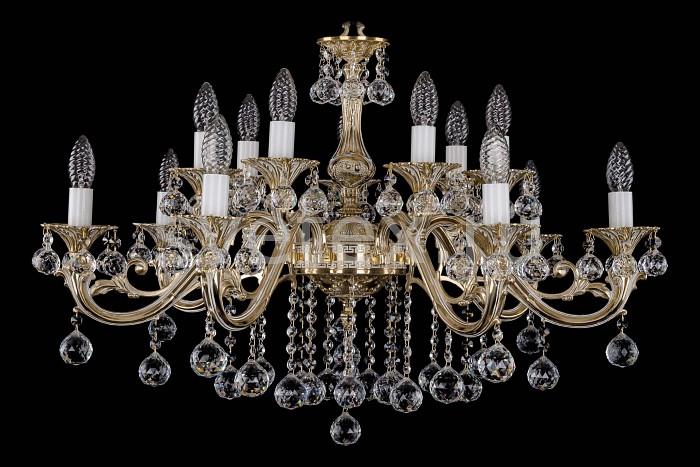 Фото Подвесная люстра Bohemia Ivele Crystal 1703 1703/14/B/GW/Balls