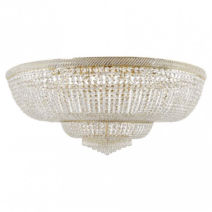 Потолочная люстра Dio D'ArteБолее 6 ламп<br>Артикул - DDA_Bari_E_1.2.150.200_G,Бренд - Dio D'Arte (Италия),Коллекция - Bari,Гарантия, месяцы - 24,Высота, мм - 600,Диаметр, мм - 1500,Тип лампы - компактная люминесцентная [КЛЛ] ИЛИнакаливания ИЛИсветодиодная [LED],Общее кол-во ламп - 24,Напряжение питания лампы, В - 220,Максимальная мощность лампы, Вт - 60,Лампы в комплекте - отсутствуют,Цвет плафонов и подвесок - неокрашенный,Тип поверхности плафонов - прозрачный,Материал плафонов и подвесок - хрусталь Asfour,Цвет арматуры - золото,Тип поверхности арматуры - глянцевый,Материал арматуры - металл,Возможность подлючения диммера - можно, если установить лампу накаливания,Тип цоколя лампы - E27,Класс электробезопасности - I,Общая мощность, Вт - 1440,Степень пылевлагозащиты, IP - 20,Диапазон рабочих температур - комнатная температура,Дополнительные параметры - способ крепления светильника к потолку - на монтажной пластине<br>