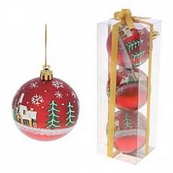 Елочная игрушка РемекоЕлочные игрушки<br>Артикул - RE_499543,Бренд - Ремеко (Россия),Коллекция - Набор из 3 шаров,Диаметр, мм - 70<br>