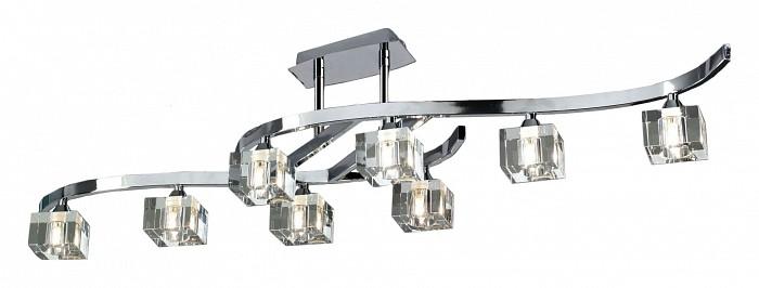 Светильник на штанге MantraСветильники<br>Артикул - MN_0961,Бренд - Mantra (Испания),Коллекция - Cuadrax,Гарантия, месяцы - 24,Время изготовления, дней - 1,Длина, мм - 1160,Высота, мм - 300,Тип лампы - галогеновая,Общее кол-во ламп - 8,Напряжение питания лампы, В - 220,Максимальная мощность лампы, Вт - 40,Цвет лампы - белый теплый,Лампы в комплекте - галогеновые G9,Цвет плафонов и подвесок - неокрашенный,Тип поверхности плафонов - прозрачный,Материал плафонов и подвесок - стекло,Цвет арматуры - хром,Тип поверхности арматуры - глянцевый,Материал арматуры - металл,Количество плафонов - 8,Возможность подлючения диммера - можно,Форма и тип колбы - пальчиковая,Тип цоколя лампы - G9,Цветовая температура, K - 2800 - 3200 K,Экономичнее лампы накаливания - на 50%,Класс электробезопасности - I,Общая мощность, Вт - 320,Степень пылевлагозащиты, IP - 20,Диапазон рабочих температур - комнатная температура<br>