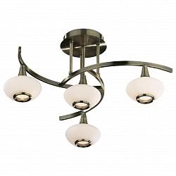 Люстра на штанге Odeon LightНе более 4 ламп<br>Артикул - OD_2054_4,Бренд - Odeon Light (Италия),Коллекция - Valle,Гарантия, месяцы - 24,Время изготовления, дней - 1,Высота, мм - 275,Диаметр, мм - 580,Тип лампы - галогеновая,Общее кол-во ламп - 4,Напряжение питания лампы, В - 220,Максимальная мощность лампы, Вт - 40,Лампы в комплекте - галогеновые G9,Цвет плафонов и подвесок - белый,Тип поверхности плафонов - матовый,Материал плафонов и подвесок - стекло,Цвет арматуры - бронза,Тип поверхности арматуры - глянцевый,Материал арматуры - металл,Возможность подлючения диммера - можно,Форма и тип колбы - пальчиковая,Тип цоколя лампы - G9,Класс электробезопасности - I,Общая мощность, Вт - 160,Степень пылевлагозащиты, IP - 20,Диапазон рабочих температур - комнатная температура<br>