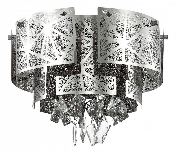 Накладной светильник Odeon LightПотолочные светильники и люстры<br>Артикул - OD_3479_5C,Бренд - Odeon Light (Италия),Коллекция - Hilary,Гарантия, месяцы - 24,Высота, мм - 310,Диаметр, мм - 430,Тип лампы - галогеновая ИЛИсветодиодная [LED],Общее кол-во ламп - 5,Напряжение питания лампы, В - 220,Максимальная мощность лампы, Вт - 42,Лампы в комплекте - отсутствуют,Цвет плафонов и подвесок - неокрашенный, хром,Тип поверхности плафонов - глянцевый, рельефный,Материал плафонов и подвесок - металл, хрусталь,Цвет арматуры - хром,Тип поверхности арматуры - глянцевый,Материал арматуры - металл,Количество плафонов - 1,Возможность подлючения диммера - можно, если установить галогеновую лампу,Форма и тип колбы - пальчиковая,Тип цоколя лампы - G9,Класс электробезопасности - I,Общая мощность, Вт - 210,Степень пылевлагозащиты, IP - 20,Диапазон рабочих температур - комнатная температура,Дополнительные параметры - способ крепления светильника к потолку - на монтажной пластине<br>