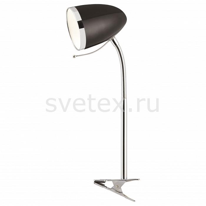Настольная лампа Arte LampНа прищепке<br>Артикул - AR_A6155LT-1BK,Бренд - Arte Lamp (Италия),Коллекция - Cosy,Время изготовления, дней - 1,Высота, мм - 440,Диаметр, мм - 100,Тип лампы - компактная люминесцентная [КЛЛ] ИЛИнакаливания ИЛИсветодиодная [LED],Общее кол-во ламп - 1,Напряжение питания лампы, В - 220,Максимальная мощность лампы, Вт - 40,Лампы в комплекте - отсутствуют,Цвет плафонов и подвесок - черный с хромированной каймой,Тип поверхности плафонов - матовый,Материал плафонов и подвесок - металл,Цвет арматуры - хром,Тип поверхности арматуры - глянцевый,Материал арматуры - металл,Количество плафонов - 1,Наличие выключателя, диммера или пульта ДУ - выключатель на проводе,Компоненты, входящие в комплект - провод электропитания с вилкой без заземления,Тип цоколя лампы - E27,Класс электробезопасности - II,Степень пылевлагозащиты, IP - 20,Диапазон рабочих температур - комнатная температура,Дополнительные параметры - провод электропитания с вилкой без заземления, светильник на прищепке<br>