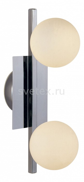Накладной светильник GloboНастенные светильники<br>Артикул - GB_5663-2,Бренд - Globo (Австрия),Коллекция - Cardiff,Гарантия, месяцы - 24,Время изготовления, дней - 1,Длина, мм - 345,Ширина, мм - 110,Выступ, мм - 160,Размер упаковки, мм - 405x155x110,Тип лампы - галогеновая,Общее кол-во ламп - 2,Напряжение питания лампы, В - 220,Максимальная мощность лампы, Вт - 40,Цвет лампы - белый теплый,Лампы в комплекте - галогеновые G9,Цвет плафонов и подвесок - опал,Тип поверхности плафонов - матовый,Материал плафонов и подвесок - стекло,Цвет арматуры - хром,Тип поверхности арматуры - глянцевый,Материал арматуры - металл,Количество плафонов - 2,Форма и тип колбы - пальчиковая,Тип цоколя лампы - G9,Цветовая температура, K - 2800 - 3200 K,Экономичнее лампы накаливания - на 50%,Класс электробезопасности - I,Общая мощность, Вт - 80,Степень пылевлагозащиты, IP - 20,Диапазон рабочих температур - комнатная температура<br>