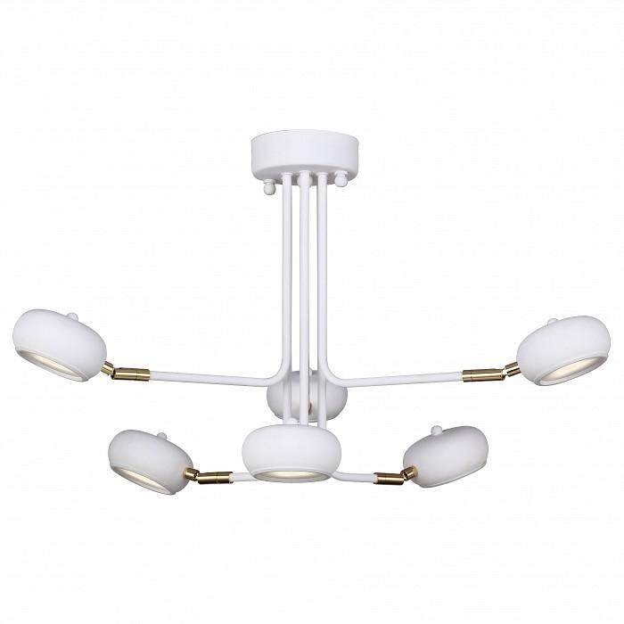 Люстра на штанге FavouriteПолимерные плафоны<br>Артикул - FV_1748-6U,Бренд - Favourite (Германия),Коллекция - Ellisse,Гарантия, месяцы - 24,Высота, мм - 400,Диаметр, мм - 700,Тип лампы - светодиодная [LED],Общее кол-во ламп - 6,Напряжение питания лампы, В - 220,Максимальная мощность лампы, Вт - 3,Цвет лампы - белый,Лампы в комплекте - светодиодные [LED],Цвет плафонов и подвесок - белый,Тип поверхности плафонов - глянцевый,Материал плафонов и подвесок - акрил,Цвет арматуры - белый, золото,Тип поверхности арматуры - глянцевый,Материал арматуры - металл,Количество плафонов - 6,Возможность подлючения диммера - нельзя,Цветовая температура, K - 4000 K,Световой поток, лм - 2640,Экономичнее лампы накаливания - в 10 раз,Светоотдача, лм/Вт - 147,Класс электробезопасности - I,Общая мощность, Вт - 18,Степень пылевлагозащиты, IP - 20,Диапазон рабочих температур - комнатная температура,Дополнительные параметры - способ крепления светильника к потолку – на монтажной пластине<br>
