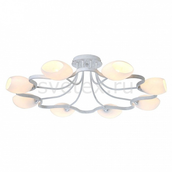 Люстра на штанге Arte LampЛюстры<br>Артикул - AR_A3004PL-8WA,Бренд - Arte Lamp (Италия),Коллекция - Liverpool,Гарантия, месяцы - 24,Время изготовления, дней - 1,Высота, мм - 240,Диаметр, мм - 850,Тип лампы - компактная люминесцентная [КЛЛ] ИЛИнакаливания ИЛИсветодиодная [LED],Общее кол-во ламп - 8,Напряжение питания лампы, В - 220,Максимальная мощность лампы, Вт - 40,Лампы в комплекте - отсутствуют,Цвет плафонов и подвесок - белый,Тип поверхности плафонов - матовый,Материал плафонов и подвесок - стекло,Цвет арматуры - белый античный,Тип поверхности арматуры - глянцевый,Материал арматуры - металл,Количество плафонов - 8,Возможность подлючения диммера - можно, если установить лампу накаливания,Тип цоколя лампы - E14,Класс электробезопасности - I,Общая мощность, Вт - 320,Степень пылевлагозащиты, IP - 20,Диапазон рабочих температур - комнатная температура<br>