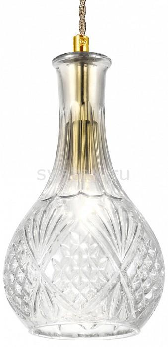 Подвесной светильник FavouriteБарные<br>Артикул - FV_1862-1P,Бренд - Favourite (Германия),Коллекция - Bottle,Гарантия, месяцы - 24,Высота, мм - 240-1735,Диаметр, мм - 140,Тип лампы - компактная люминесцентная [КЛЛ] ИЛИнакаливания ИЛИсветодиодная [LED],Общее кол-во ламп - 1,Напряжение питания лампы, В - 220,Максимальная мощность лампы, Вт - 60,Лампы в комплекте - отсутствуют,Цвет плафонов и подвесок - неокрашенный,Тип поверхности плафонов - прозрачный, рельефный,Материал плафонов и подвесок - стекло,Цвет арматуры - золото,Тип поверхности арматуры - глянцевый,Материал арматуры - металл,Количество плафонов - 1,Возможность подлючения диммера - можно, если установить лампу накаливания,Тип цоколя лампы - E27,Класс электробезопасности - I,Степень пылевлагозащиты, IP - 20,Диапазон рабочих температур - комнатная температура,Дополнительные параметры - способ крепления светильника к потолку - на монтажной пластине, регулируется по высоте<br>