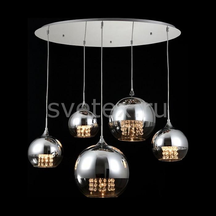 Подвесной светильник MaytoniСветодиодные<br>Артикул - MY_F140-05-N,Бренд - Maytoni (Германия),Коллекция - Fermi,Гарантия, месяцы - 24,Высота, мм - 1020-1645,Диаметр, мм - 910,Тип лампы - компактная люминесцентная [КЛЛ] ИЛИнакаливания ИЛИсветодиодная [LED],Общее кол-во ламп - 5,Напряжение питания лампы, В - 220,Максимальная мощность лампы, Вт - 60,Лампы в комплекте - отсутствуют,Цвет плафонов и подвесок - неокрашенный, хром,Тип поверхности плафонов - глянцевый, прозрачный,Материал плафонов и подвесок - стекло, хрусталь,Цвет арматуры - хром,Тип поверхности арматуры - глянцевый,Материал арматуры - металл,Количество плафонов - 5,Возможность подлючения диммера - можно, если установить лампу накаливания,Тип цоколя лампы - E14,Класс электробезопасности - I,Общая мощность, Вт - 300,Степень пылевлагозащиты, IP - 20,Диапазон рабочих температур - комнатная температура,Дополнительные параметры - способ крепления светильника к потолку - на монтажной пластине, регулируется по высоте<br>