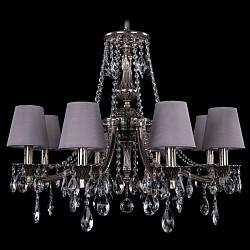 Подвесная люстра Bohemia Ivele CrystalТекстильные плафоны<br>Артикул - BI_1771_8_220_A_NB_SH24,Бренд - Bohemia Ivele Crystal (Чехия),Коллекция - 1771,Гарантия, месяцы - 24,Высота, мм - 620,Диаметр, мм - 690,Размер упаковки, мм - 640x640x320,Тип лампы - компактная люминесцентная [КЛЛ] ИЛИнакаливания ИЛИсветодиодная [LED],Общее кол-во ламп - 8,Напряжение питания лампы, В - 220,Максимальная мощность лампы, Вт - 40,Лампы в комплекте - отсутствуют,Цвет плафонов и подвесок - неокрашенный, сталь светлая,Тип поверхности плафонов - матовый, прозрачный,Материал плафонов и подвесок - текстиль, хрусталь,Цвет арматуры - никель черненый,Тип поверхности арматуры - глянцевый, рельефный,Материал арматуры - латунь,Возможность подлючения диммера - можно, если установить лампу накаливания,Тип цоколя лампы - E14,Класс электробезопасности - I,Общая мощность, Вт - 320,Степень пылевлагозащиты, IP - 20,Диапазон рабочих температур - комнатная температура,Дополнительные параметры - способ крепления светильника к потолку - на крюке, указана высота светильника без подвеса<br>