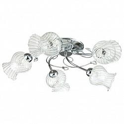 Потолочная люстра Lumion5 или 6 ламп<br>Артикул - LMN_3073_5C,Бренд - Lumion (Италия),Коллекция - Frizza,Гарантия, месяцы - 24,Высота, мм - 180,Диаметр, мм - 650,Размер упаковки, мм - 330x190x480,Тип лампы - компактная люминесцентная [КЛЛ] ИЛИнакаливания ИЛИсветодиодная [LED],Общее кол-во ламп - 5,Напряжение питания лампы, В - 220,Максимальная мощность лампы, Вт - 40,Лампы в комплекте - отсутствуют,Цвет плафонов и подвесок - неокрашенный полосытые,Тип поверхности плафонов - прозрачный, рельефный,Материал плафонов и подвесок - стекло, хрусталь,Цвет арматуры - хром,Тип поверхности арматуры - глянцевый, металлик,Материал арматуры - металл,Возможность подлючения диммера - можно, если установить лампу накаливания,Тип цоколя лампы - E14,Класс электробезопасности - I,Общая мощность, Вт - 200,Степень пылевлагозащиты, IP - 20,Диапазон рабочих температур - комнатная температура,Дополнительные параметры - способ крепления к потолку - на монтажной пластине<br>