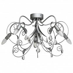 Потолочная люстра MW-Light5 или 6 ламп<br>Артикул - MW_422011005,Бренд - MW-Light (Германия),Коллекция - Роса 4,Гарантия, месяцы - 12,Высота, мм - 400,Диаметр, мм - 650,Размер упаковки, мм - 620x620x420,Тип лампы - компактная люминесцентная [КЛЛ] ИЛИнакаливания ИЛИсветодиодная [LED],Общее кол-во ламп - 5,Напряжение питания лампы, В - 220,Максимальная мощность лампы, Вт - 40,Лампы в комплекте - отсутствуют,Цвет плафонов и подвесок - неокрашенный,Тип поверхности плафонов - прозрачный,Материал плафонов и подвесок - хрусталь,Цвет арматуры - серебро античное,Тип поверхности арматуры - матовый,Материал арматуры - металл,Возможность подлючения диммера - можно, если установить лампу накаливания,Форма и тип колбы - свеча ИЛИ свеча на ветру,Тип цоколя лампы - E14,Класс электробезопасности - I,Общая мощность, Вт - 200,Степень пылевлагозащиты, IP - 20,Диапазон рабочих температур - комнатная температура,Дополнительные параметры - способ крепления светильника к потолку – на монтажной пластине<br>