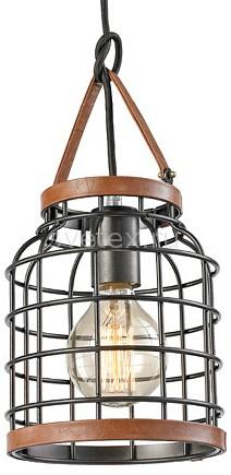 Подвесной светильник FavouriteСветодиодные<br>Артикул - FV_1580-1P,Бренд - Favourite (Германия),Коллекция - Netz,Гарантия, месяцы - 24,Высота, мм - 320,Диаметр, мм - 170,Тип лампы - компактная люминесцентная [КЛЛ] ИЛИнакаливания ИЛИсветодиодная [LED],Общее кол-во ламп - 1,Напряжение питания лампы, В - 220,Максимальная мощность лампы, Вт - 60,Лампы в комплекте - отсутствуют,Цвет плафонов и подвесок - коричневый, черный античный,Тип поверхности плафонов - матовый,Материал плафонов и подвесок - металл, эко-кожа,Цвет арматуры - черный античный,Тип поверхности арматуры - матовый,Материал арматуры - металл,Количество плафонов - 1,Возможность подлючения диммера - можно, если установить лампу накаливания,Тип цоколя лампы - E27,Класс электробезопасности - I,Степень пылевлагозащиты, IP - 20,Диапазон рабочих температур - комнатная температура,Дополнительные параметры - способ крепления к потолку - на монтажной пластине, регулируется по высоте<br>