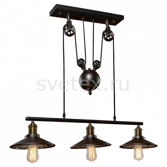 Подвесной светильник Loft itСветодиодные<br>Артикул - LF_LOFT1832C-3,Бренд - Loft it (Испания),Коллекция - 1832,Гарантия, месяцы - 24,Ширина, мм - 220,Высота, мм - 1500,Тип лампы - компактная люминесцентная [КЛЛ] ИЛИнакаливания ИЛИсветодиодная [LED],Общее кол-во ламп - 3,Напряжение питания лампы, В - 220,Максимальная мощность лампы, Вт - 60,Лампы в комплекте - отсутствуют,Цвет плафонов и подвесок - черный дымчатый,Тип поверхности плафонов - матовый,Материал плафонов и подвесок - металл,Цвет арматуры - дымчатый черный,Тип поверхности арматуры - матовый,Материал арматуры - металл,Количество плафонов - 3,Возможность подлючения диммера - можно, если установить лампу накаливания,Тип цоколя лампы - E27,Класс электробезопасности - I,Общая мощность, Вт - 180,Степень пылевлагозащиты, IP - 20,Диапазон рабочих температур - комнатная температура,Дополнительные параметры - способ крепления светильника к потолку – на крюке, регулируется по высоте<br>