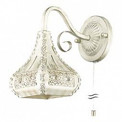 Бра Odeon LightМеталлический плафон<br>Артикул - OD_2845_1W,Бренд - Odeon Light (Италия),Коллекция - Bahar,Гарантия, месяцы - 24,Высота, мм - 245,Тип лампы - компактная люминесцентная [КЛЛ] ИЛИнакаливания ИЛИсветодиодная [LED],Общее кол-во ламп - 1,Напряжение питания лампы, В - 220,Максимальная мощность лампы, Вт - 40,Лампы в комплекте - отсутствуют,Цвет плафонов и подвесок - белый с золотой патиной, неокрашенный,Тип поверхности плафонов - матовый, прозрачный, рельефный,Материал плафонов и подвесок - металл, хрусталь,Цвет арматуры - белый с золотой патиной,Тип поверхности арматуры - матовый, рельефный,Материал арматуры - металл,Возможность подлючения диммера - выключатель шнуровой,Тип цоколя лампы - E14,Класс электробезопасности - I,Степень пылевлагозащиты, IP - 20,Диапазон рабочих температур - комнатная температура,Дополнительные параметры - способ крепления светильника на стене – на монтажной пластине, светильник предназначен для использования со скрытой проводкой<br>