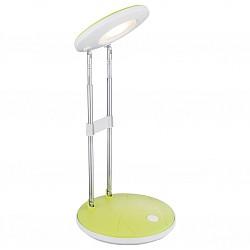 Настольная лампа GloboПолимерные<br>Артикул - GB_58389,Бренд - Globo (Австрия),Коллекция - Eloen I,Гарантия, месяцы - 24,Высота, мм - 355,Диаметр, мм - 126,Размер упаковки, мм - 130х50х310,Тип лампы - светодиодная [LED],Общее кол-во ламп - 1,Напряжение питания лампы, В - 220,Максимальная мощность лампы, Вт - 2.5,Лампы в комплекте - светодиодная [LED],Цвет плафонов и подвесок - белый, зеленый,Тип поверхности плафонов - матовый,Материал плафонов и подвесок - полимер,Цвет арматуры - белый, зеленый, хром,Тип поверхности арматуры - глянцевый, матовый, металлик,Материал арматуры - металл,Класс электробезопасности - II,Степень пылевлагозащиты, IP - 20,Диапазон рабочих температур - комнатная температура,Дополнительные параметры - поворотный светильник<br>