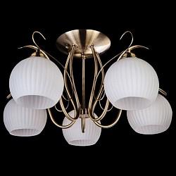 Люстра на штанге Eurosvet5 или 6 ламп<br>Артикул - EV_7207,Бренд - Eurosvet (Китай),Коллекция - 7704,Гарантия, месяцы - 24,Высота, мм - 280,Диаметр, мм - 540,Тип лампы - компактная люминесцентная [КЛЛ] ИЛИнакаливания ИЛИсветодиодная [LED],Общее кол-во ламп - 5,Напряжение питания лампы, В - 220,Максимальная мощность лампы, Вт - 60,Лампы в комплекте - отсутствуют,Цвет плафонов и подвесок - белый,Тип поверхности плафонов - матовый, рельефный,Материал плафонов и подвесок - стекло,Цвет арматуры - бронза античная,Тип поверхности арматуры - глянцевый,Материал арматуры - металл,Тип цоколя лампы - E27,Класс электробезопасности - I,Общая мощность, Вт - 300,Степень пылевлагозащиты, IP - 20,Диапазон рабочих температур - комнатная температура<br>