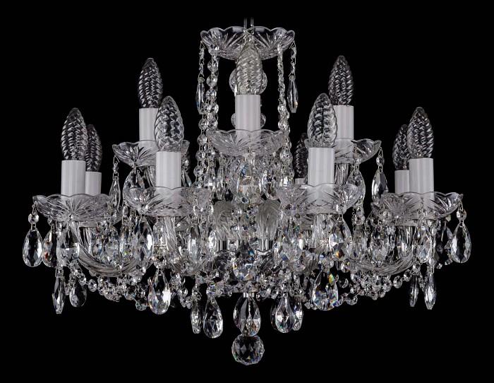 Фото Подвесная люстра Bohemia Ivele Crystal 1402 1402/8_4/195/Ni