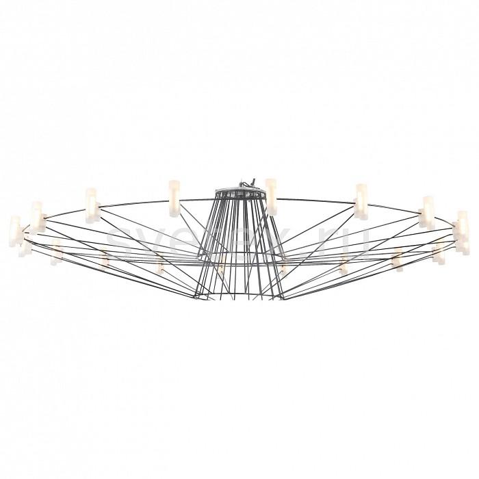 Подвесная люстра FavouriteПолимерные плафоны<br>Артикул - FV_1638-18P,Бренд - Favourite (Германия),Коллекция - Salute,Гарантия, месяцы - 24,Высота, мм - 270-1270,Диаметр, мм - 1020,Тип лампы - светодиодная [LED],Общее кол-во ламп - 18,Максимальная мощность лампы, Вт - 2,Цвет лампы - белый,Лампы в комплекте - светодиодные [LED],Цвет плафонов и подвесок - белый,Тип поверхности плафонов - матовый,Материал плафонов и подвесок - акрил,Цвет арматуры - черный,Тип поверхности арматуры - матовый,Материал арматуры - металл,Количество плафонов - 18,Возможность подлючения диммера - нельзя,Цветовая температура, K - 4000 K,Экономичнее лампы накаливания - в 10 раз,Ресурс лампы - 50 тыс. час.,Класс электробезопасности - I,Напряжение питания, В - 220,Общая мощность, Вт - 36,Степень пылевлагозащиты, IP - 20,Диапазон рабочих температур - комнатная температура,Дополнительные параметры - способ крепления светильника к потолку - на крюке, регулируется по высоте<br>