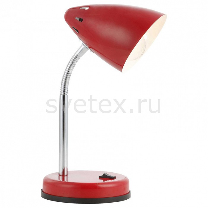 Настольная лампа GloboТочечные светильники<br>Артикул - GB_24850,Бренд - Globo (Австрия),Коллекция - Mono,Гарантия, месяцы - 24,Ширина, мм - 130,Высота, мм - 220-340,Выступ, мм - 150,Диаметр, мм - 100,Размер упаковки, мм - 205x140x135,Тип лампы - компактная люминесцентная [КЛЛ] ИЛИнакаливания ИЛИсветодиодная [LED],Общее кол-во ламп - 1,Напряжение питания лампы, В - 220,Максимальная мощность лампы, Вт - 40,Лампы в комплекте - отсутствуют,Цвет плафонов и подвесок - красный,Тип поверхности плафонов - глянцевый,Материал плафонов и подвесок - металл,Цвет арматуры - красный, хром,Тип поверхности арматуры - глянцевый,Материал арматуры - металл,Количество плафонов - 1,Наличие выключателя, диммера или пульта ДУ - выключатель,Компоненты, входящие в комплект - провод электропитания с вилкой без заземления,Тип цоколя лампы - E14,Класс электробезопасности - II,Степень пылевлагозащиты, IP - 20,Диапазон рабочих температур - комнатная температура,Дополнительные параметры - поворотный светильник<br>