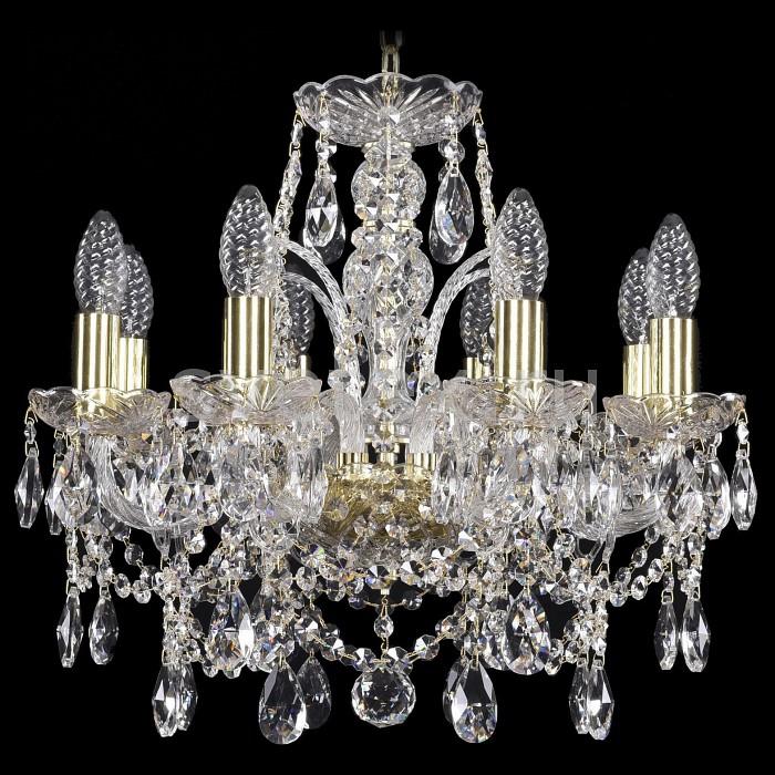 Подвесная люстра Bohemia Ivele CrystalБолее 6 ламп<br>Артикул - BI_1411_8_141_G,Бренд - Bohemia Ivele Crystal (Чехия),Коллекция - 1411,Гарантия, месяцы - 24,Высота, мм - 400,Диаметр, мм - 440,Размер упаковки, мм - 510x510x200,Тип лампы - компактная люминесцентная [КЛЛ] ИЛИнакаливания ИЛИсветодиодная [LED],Общее кол-во ламп - 8,Напряжение питания лампы, В - 220,Максимальная мощность лампы, Вт - 40,Лампы в комплекте - отсутствуют,Цвет плафонов и подвесок - неокрашенный,Тип поверхности плафонов - прозрачный,Материал плафонов и подвесок - хрусталь,Цвет арматуры - золото, неокрашенный,Тип поверхности арматуры - глянцевый, прозрачный,Материал арматуры - металл, стекло,Возможность подлючения диммера - можно, если установить лампу накаливания,Форма и тип колбы - свеча ИЛИ свеча на ветру,Тип цоколя лампы - E14,Класс электробезопасности - I,Общая мощность, Вт - 320,Степень пылевлагозащиты, IP - 20,Диапазон рабочих температур - комнатная температура,Дополнительные параметры - способ крепления светильника к потолку - на крюке, указана высота светильники без подвеса<br>