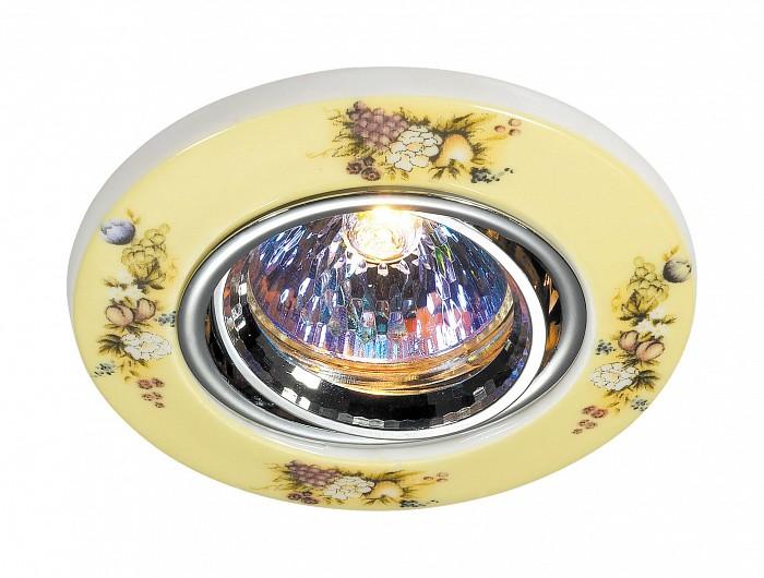 Встраиваемый светильник NovotechКруглые<br>Артикул - NV_369551,Бренд - Novotech (Венгрия),Коллекция - Ceramic,Гарантия, месяцы - 24,Время изготовления, дней - 1,Глубина, мм - 20,Диаметр, мм - 97,Размер врезного отверстия, мм - 65,Тип лампы - галогеновая ИЛИсветодиодная [LED],Общее кол-во ламп - 1,Напряжение питания лампы, В - 12,Максимальная мощность лампы, Вт - 50,Лампы в комплекте - отсутствуют,Цвет плафонов и подвесок - разноцветный,Тип поверхности плафонов - матовый,Материал плафонов и подвесок - керамика,Цвет арматуры - хром,Тип поверхности арматуры - глянцевый,Материал арматуры - алюминиевое литье,Количество плафонов - 1,Возможность подлючения диммера - можно, если установить галогеновую лампу,Форма и тип колбы - полусферическая с рефлектором ИЛИполусферическая с радиатором,Тип цоколя лампы - GX5.3,Экономичнее лампы накаливания - на 50%,Угол падения света, град - 90,Класс электробезопасности - I,Напряжение питания, В - 220,Степень пылевлагозащиты, IP - 20,Диапазон рабочих температур - комнатная температура,Дополнительные параметры - поворотный светильник, возможна установка лампы GX5.3 (MR-16) на 12 В с подключением через трансформатор 12 В<br>