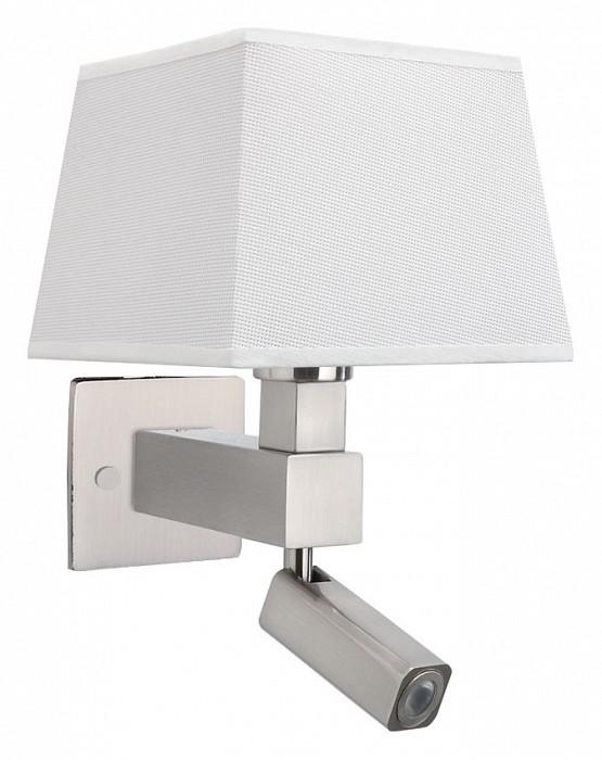 Бра с подсветкой MantraСветодиодные<br>Артикул - MN_5234_5239_5170,Бренд - Mantra (Испания),Коллекция - Bahia,Гарантия, месяцы - 24,Ширина, мм - 200,Высота, мм - 334,Выступ, мм - 215,Тип лампы - компактная люминесцентная [КЛЛ], светодиодная [LED] ИЛИсветодиодные [LED],Общее кол-во ламп - 2,Напряжение питания лампы, В - 220,Максимальная мощность лампы, Вт - 3, 13,Цвет лампы - белый теплый,Лампы в комплекте - светодиодная [LED],Цвет плафонов и подвесок - белый,Тип поверхности плафонов - матовый,Материал плафонов и подвесок - текстиль,Цвет арматуры - никель,Тип поверхности арматуры - сатин,Материал арматуры - металл,Количество плафонов - 1,Наличие выключателя, диммера или пульта ДУ - выключатель,Тип цоколя лампы - E27,Цветовая температура, K - 3000 K,Световой поток, лм - 200,Экономичнее лампы накаливания - в 8.3 раза,Светоотдача, лм/Вт - 67,Класс электробезопасности - I,Общая мощность, Вт - 16,Степень пылевлагозащиты, IP - 20,Диапазон рабочих температур - комнатная температура,Дополнительные параметры - способ крепления светильника на стене – на монтажной пластине, светильник предназначен для использования со скрытой проводкой, поворотный светильник, размер основания 100x100 мм<br>