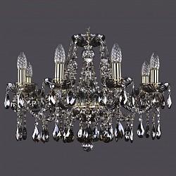 Подвесная люстра Bohemia Ivele CrystalБолее 6 ламп<br>Артикул - BI_1413_8_200_G_M731,Бренд - Bohemia Ivele Crystal (Чехия),Коллекция - 1413,Гарантия, месяцы - 24,Высота, мм - 400,Диаметр, мм - 570,Размер упаковки, мм - 450x450x200,Тип лампы - компактная люминесцентная [КЛЛ] ИЛИнакаливания ИЛИсветодиодная [LED],Общее кол-во ламп - 8,Напряжение питания лампы, В - 220,Максимальная мощность лампы, Вт - 40,Лампы в комплекте - отсутствуют,Цвет плафонов и подвесок - дымчатый светлый,Тип поверхности плафонов - прозрачный,Материал плафонов и подвесок - хрусталь,Цвет арматуры - дымчатый светлый, золото,Тип поверхности арматуры - глянцевый, прозрачный, рельефный,Материал арматуры - металл, стекло,Возможность подлючения диммера - можно, если установить лампу накаливания,Форма и тип колбы - свеча ИЛИ свеча на ветру,Тип цоколя лампы - E14,Класс электробезопасности - I,Общая мощность, Вт - 320,Степень пылевлагозащиты, IP - 20,Диапазон рабочих температур - комнатная температура,Дополнительные параметры - способ крепления светильника к потолку - на крюке, указана высота светильника без подвеса<br>