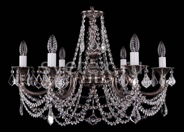 Фото Подвесная люстра Bohemia Ivele Crystal 1702 1702/6/C/NB/Leafs
