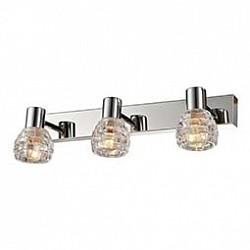 Спот GloboС 3 лампами<br>Артикул - GB_541007-3,Бренд - Globo (Австрия),Коллекция - 541007,Гарантия, месяцы - 24,Тип лампы - компактная люминесцентная [КЛЛ] ИЛИнакаливания ИЛИсветодиодная [LED],Общее кол-во ламп - 3,Напряжение питания лампы, В - 220,Максимальная мощность лампы, Вт - 40,Лампы в комплекте - отсутствуют,Цвет плафонов и подвесок - неокрашенный,Тип поверхности плафонов - прозрачный, рельефный,Материал плафонов и подвесок - стекло,Цвет арматуры - хром,Тип поверхности арматуры - глянцевый, металлик,Материал арматуры - металл,Возможность подлючения диммера - можно, если установить лампу накаливания,Тип цоколя лампы - E14,Класс электробезопасности - I,Общая мощность, Вт - 120,Степень пылевлагозащиты, IP - 20,Диапазон рабочих температур - комнатная температура,Дополнительные параметры - поворотный светильник<br>