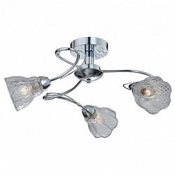 Люстра на штанге IDLampНе более 4 ламп<br>Артикул - ID_866_3PF-Chrome,Бренд - IDLamp (Италия),Коллекция - 866,Гарантия, месяцы - 24,Высота, мм - 320,Диаметр, мм - 620,Тип лампы - компактная люминесцентная [КЛЛ] ИЛИнакаливания ИЛИсветодиодная [LED],Общее кол-во ламп - 3,Напряжение питания лампы, В - 220,Максимальная мощность лампы, Вт - 60,Лампы в комплекте - отсутствуют,Цвет плафонов и подвесок - неокрашенный,Тип поверхности плафонов - матовый, рельефный,Материал плафонов и подвесок - стекло,Цвет арматуры - хром,Тип поверхности арматуры - глянцевый,Материал арматуры - металл,Возможность подлючения диммера - можно, если установить лампу накаливания,Тип цоколя лампы - E14,Класс электробезопасности - I,Общая мощность, Вт - 180,Степень пылевлагозащиты, IP - 20,Диапазон рабочих температур - комнатная температура,Дополнительные параметры - способ крепления светильника к потолку — на монтажной пластине, если Вам нужно повесить светильник на крюк, укажите это в комментарии к заказу, - мы положим в подарок пластину с ушком для крюка<br>